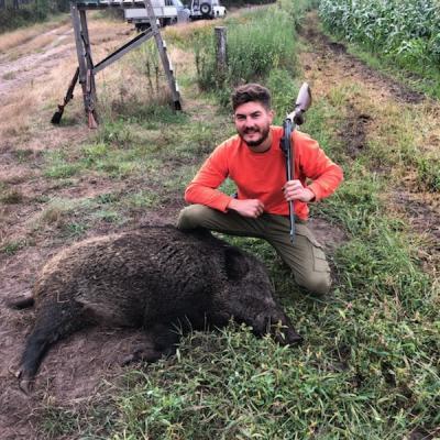 Joli mâle de 112 kg août 2019